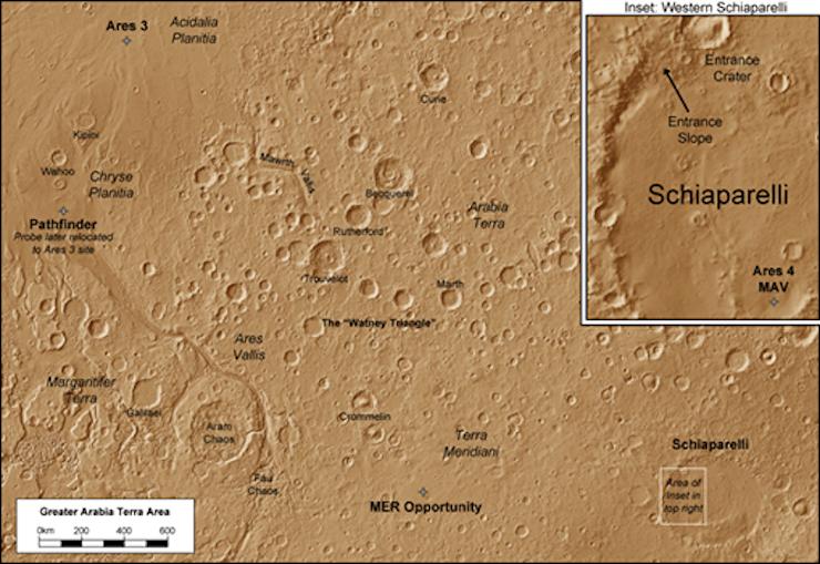 el marciano mapa marte